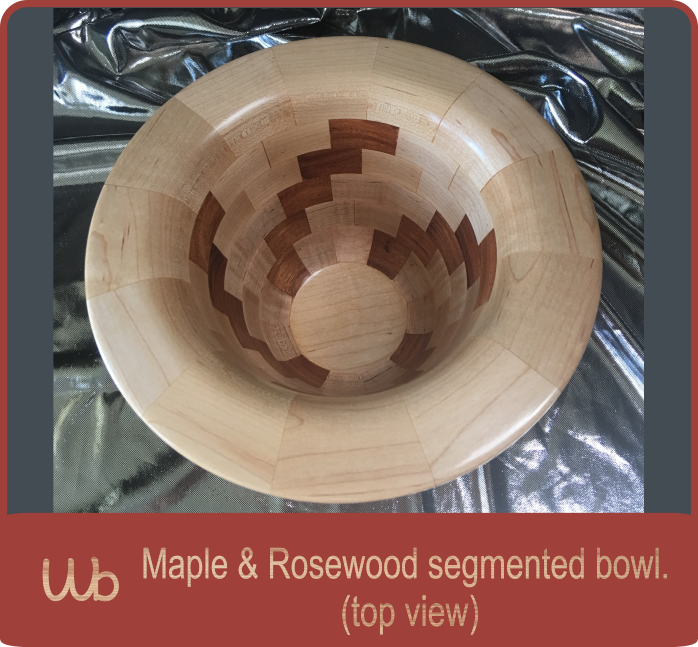Maple and rosewood segmented bowl