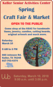 2018 Keller Craft Fair and Market, Open to the Public