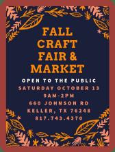Fall Craft Fair and Market, Keller, TX